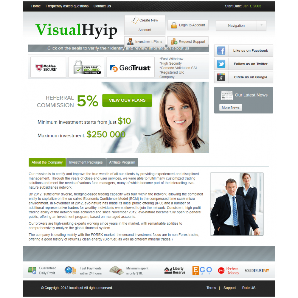 GC Hyip Template 27