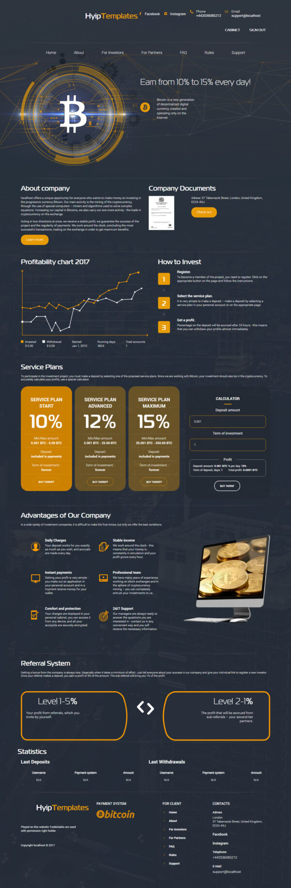 GoldCoders Hyip Template – 228