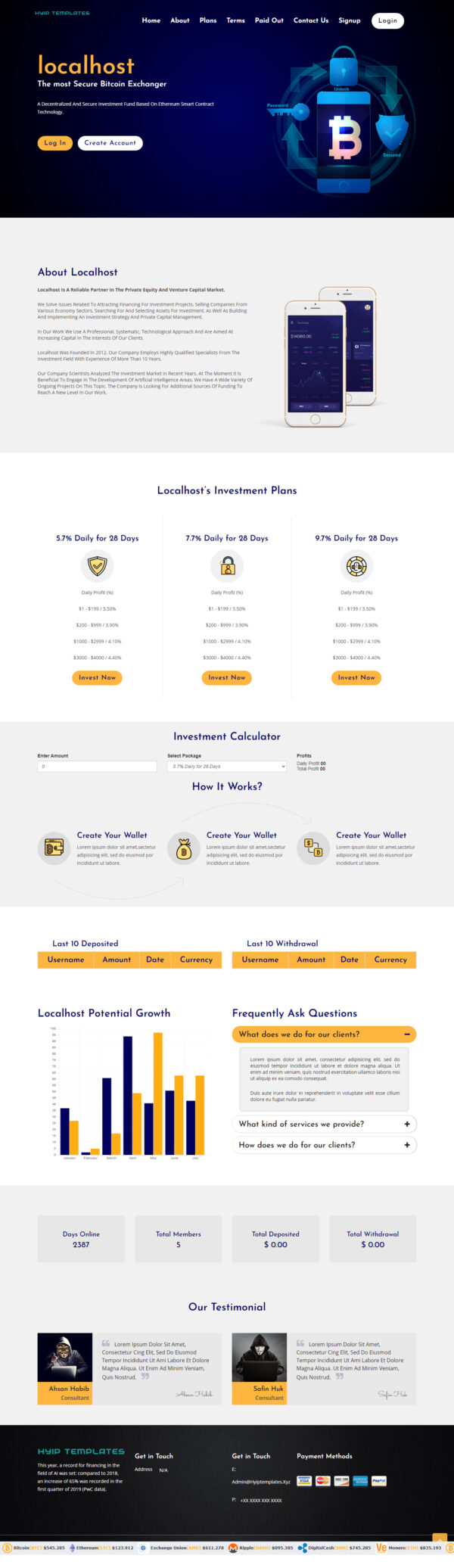 GoldCoders HYIP Template – 233