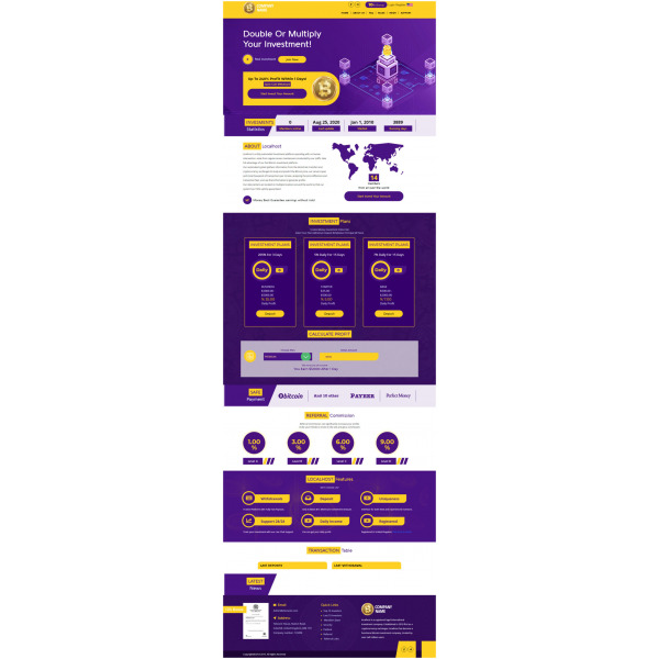 GoldCoders HYIP Template – 244