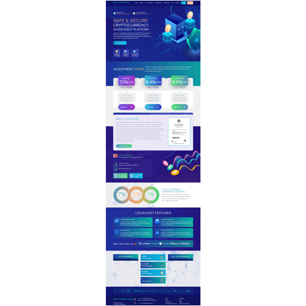 GoldCoders HYIP Template – 246