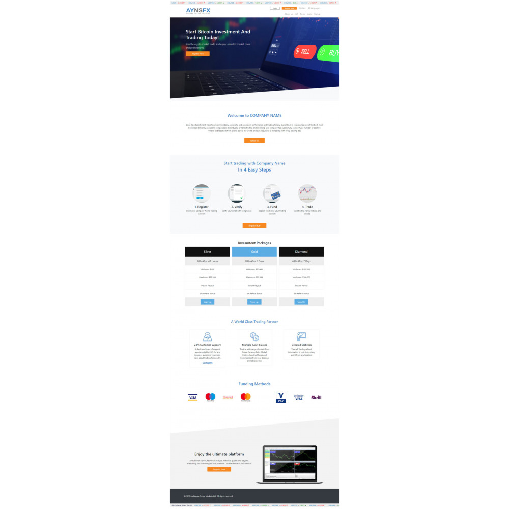 GoldCoders HYIP Template – 253