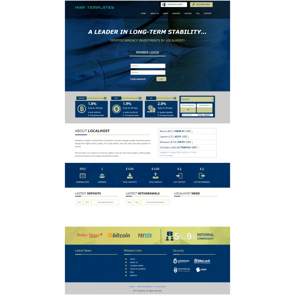 GoldCoders HYIP Template – 260