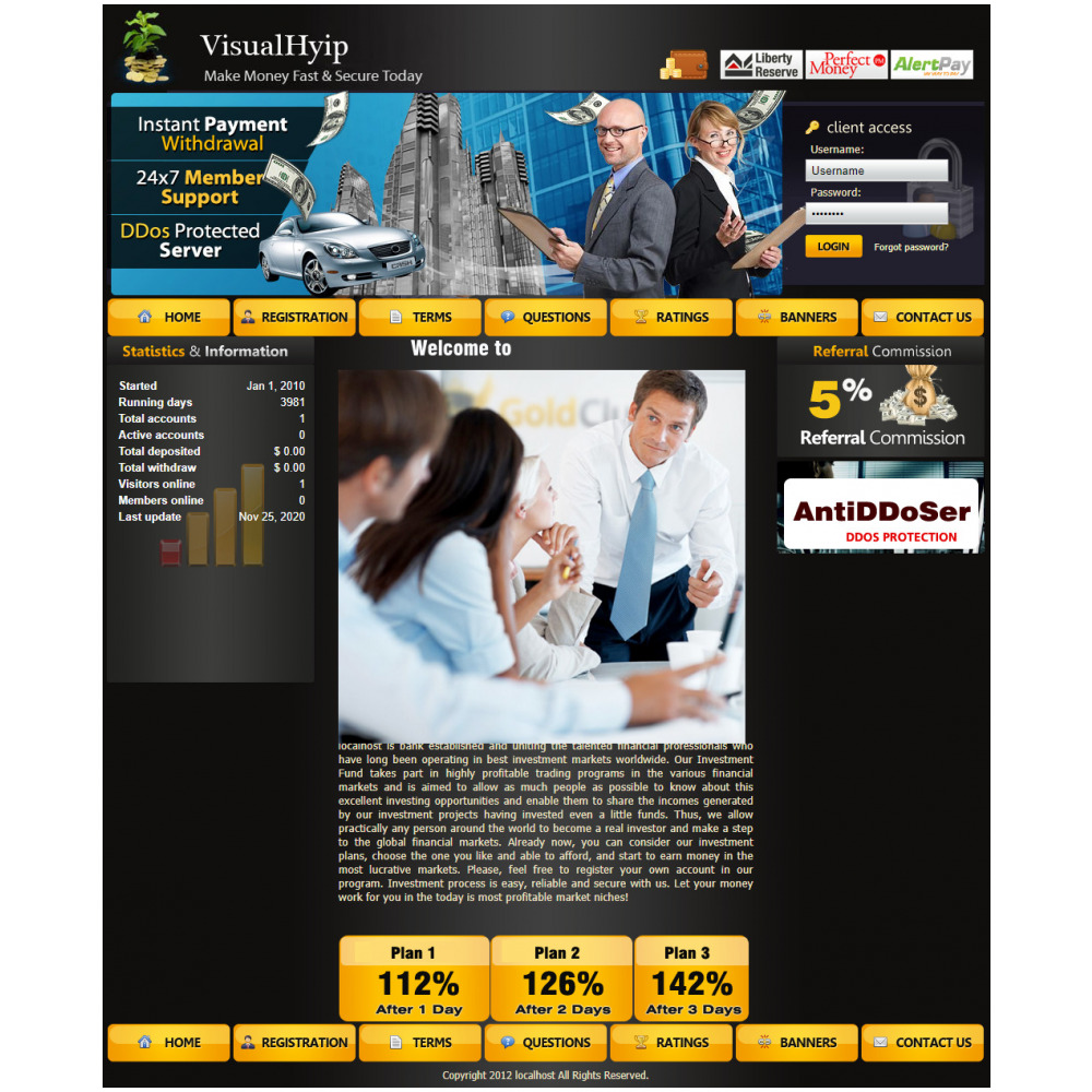 GoldCoders HYIP Template – 272