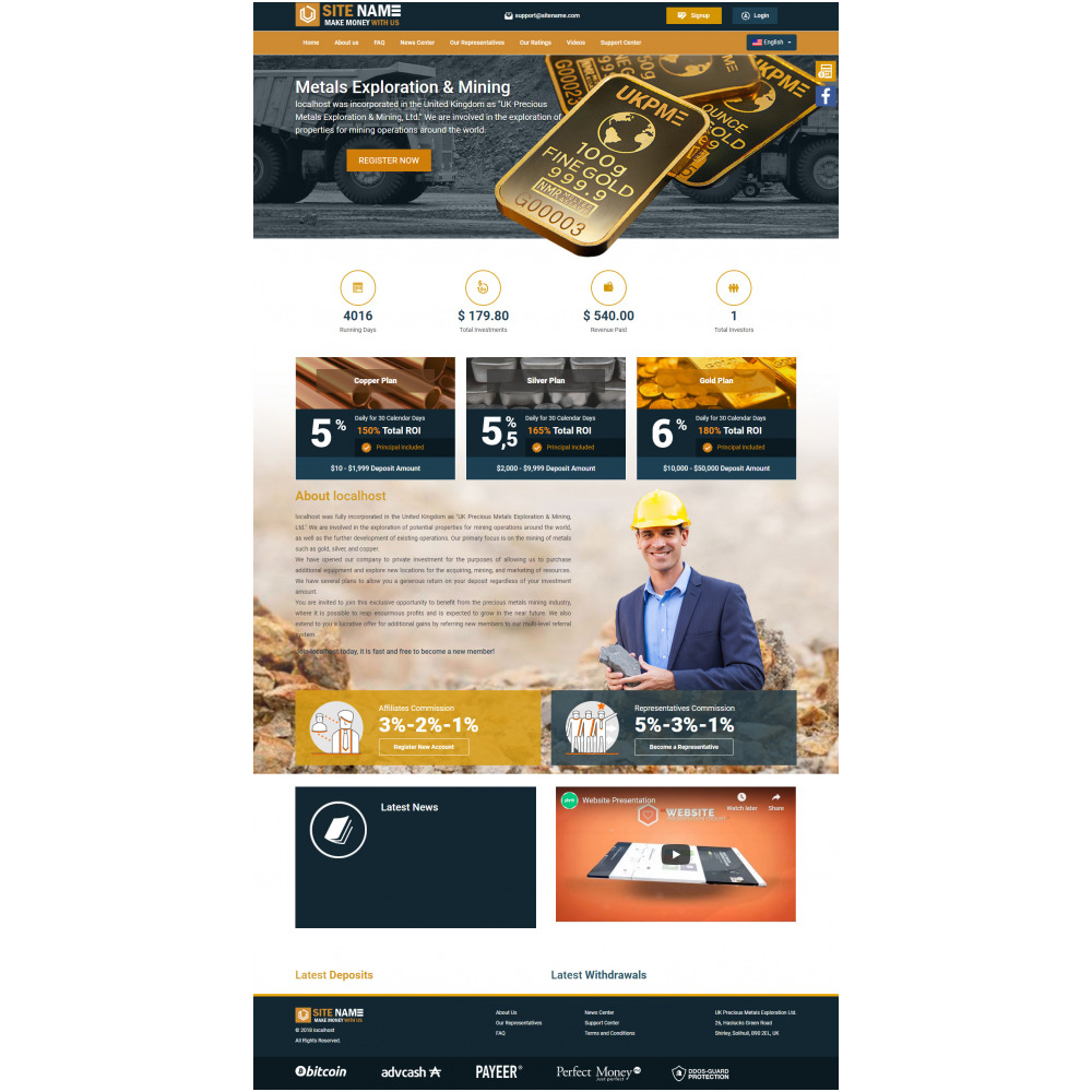 GoldCoders HYIP Template – 282